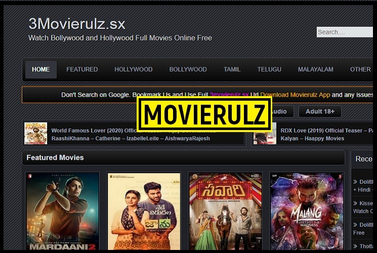 3movierulz 2021 - Illegal HD Movies Download Website, 3movierulz is a piracy website which allows users to download Bollywood and Telugu movies online illegally. Watching or downloading movies from 3movierulz is an act of piracy., 3movierulz, 3movierulz online, download Bollywood movies, 3movierulz 2021