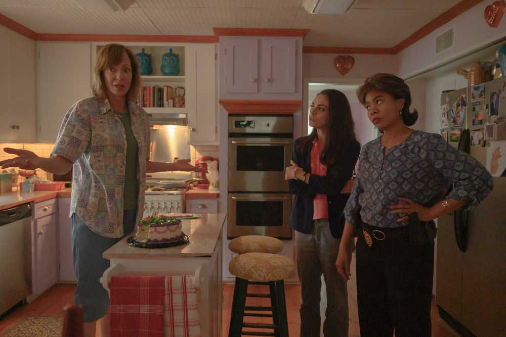 Breaking News in Yuba County movie review: Alison Janney's black comedy soft-pedals satire with slapstick