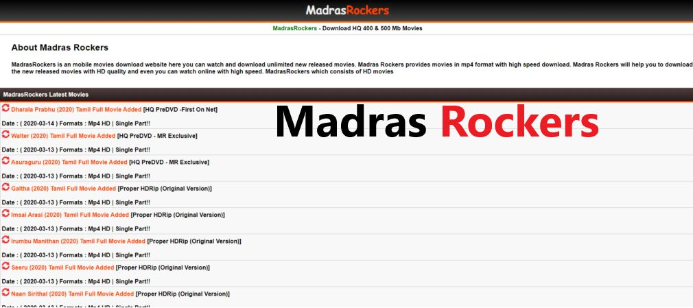 Madras Rockers 2021 - Illegal HD Movies Download Website, Madras Rockers is an Indian torrent website which allows users to download movies online illegally. Downloading movies from Madras Rockers is an act of piracy., madras rockers