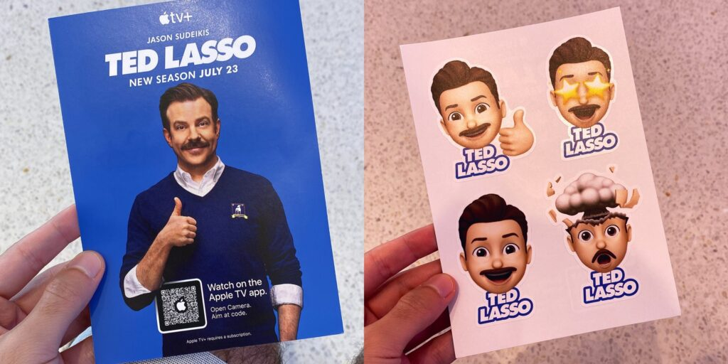 Apple is giving away Ted Lasso stickers at retail stores – Entertainment News & Reality Shows & Netflix Latest Updates